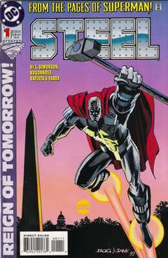 Copertina STEEL S52 n.1 - Steel Wrought Iron, DC COMICS