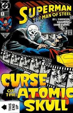 Copertina SUPERMAN MAN OF STEEL n.5 - The Curse of the Atomic Skull, DC COMICS