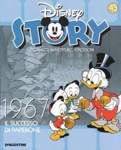 Copertina DISNEY STORY n.45 - 1967 - Il successo di Paperone, DE AGOSTINI
