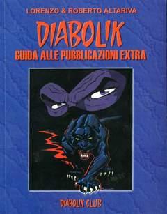 Copertina CLERVILLE BOOK n.11 - DIABOLIK: GUIDA ALLE PUBBLICAZIONI EXTRA, DIABOLIK CLUB