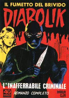 Copertina CLERVILLE BOOK n.5 - DIABOLIK: L'INAFFERRABILE CRIMINALE, DIABOLIK CLUB