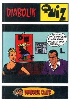 Copertina CLERVILLE BOOK n.1 - DIABOLIK QUIZ, DIABOLIK CLUB