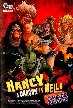 Copertina NANCY IN HELL & SAVAGE DRAGON n. - A DRAGON IN HELL, DOUBLE SHOT