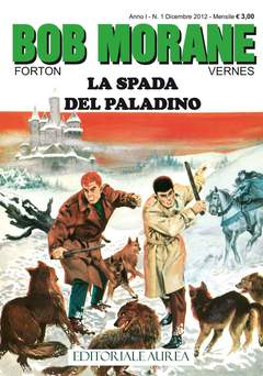 Copertina BOB MORANE n.1 - LA SPADA DEL PALADINO, EDITORIALE AUREA