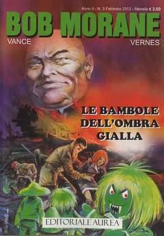 Copertina BOB MORANE n.3 - LE BAMBOLE DELL'OMBRA GIALLA, EDITORIALE AUREA