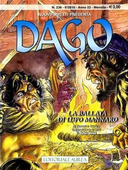 Copertina DAGO ANNO 22 in poi n.236 - LA BALLATA DI LUPO MANNARO, EDITORIALE AUREA