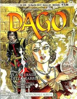 Copertina DAGO ANNO 22 in poi n.246 - LA BEVANDA DELLA RABBIA, EDITORIALE AUREA