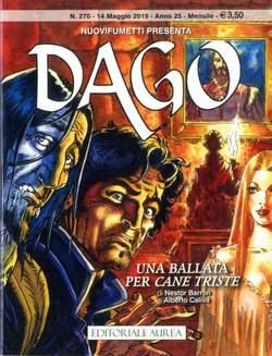 Copertina DAGO ANNO 22 in poi n.270 - DAGO - UNA BALLATA PER CANE TRISTE, EDITORIALE AUREA