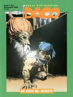 Copertina DAGO RISTAMPA n.3 - UN GRIDO NEL DESERTO, EDITORIALE AUREA