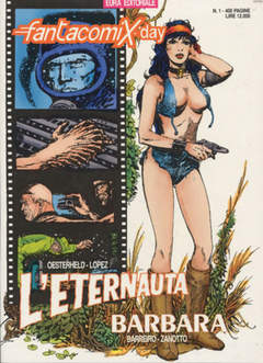 Copertina FANTACOMIX DAY n.1 - L'ETERNAUTA E BARBARA, EDITORIALE AUREA
