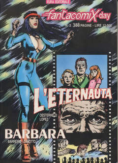 Copertina FANTACOMIX DAY n.3 - L'ETERNAUTA E BARBARA, EDITORIALE AUREA