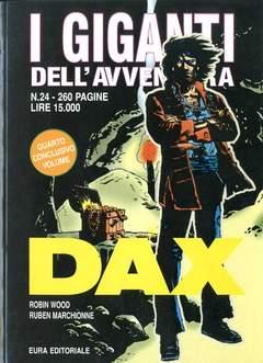 Copertina GIGANTI DELL'AVVENTURA (I) n.24 - DAX, EDITORIALE AUREA