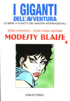 Copertina GIGANTI DELL'AVVENTURA (I) n.55 - MODESTY BLAISE, EDITORIALE AUREA