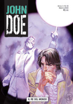 Copertina JOHN DOE n.10 - Il re del mondo, EDITORIALE AUREA