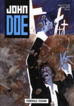 Copertina JOHN DOE n.26 - Funerale texano, EDITORIALE AUREA