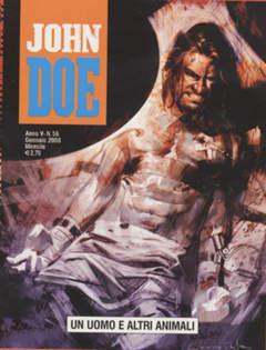 Copertina JOHN DOE n.56 - Un uomo e altri animali, EDITORIALE AUREA