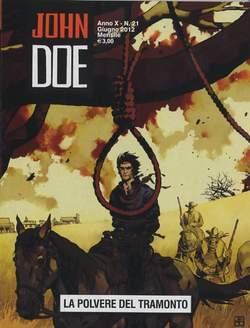 Copertina JOHN DOE n.99 - LA POLVERE DEL TRAMONTO, EDITORIALE AUREA