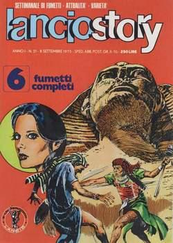 Copertina LANCIOSTORY ANNO 01 n.21 - LANCIOSTORY 1975   21, EDITORIALE AUREA