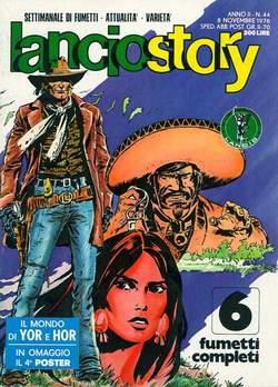 Copertina LANCIOSTORY ANNO 02 n.44 - LANCIOSTORY 1976   44, EDITORIALE AUREA