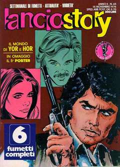 Copertina LANCIOSTORY ANNO 02 n.45 - LANCIOSTORY 1976   45, EDITORIALE AUREA