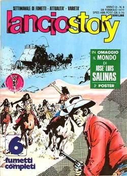 Copertina LANCIOSTORY ANNO 03 n.8 - LANCIOSTORY 1977    8, EDITORIALE AUREA