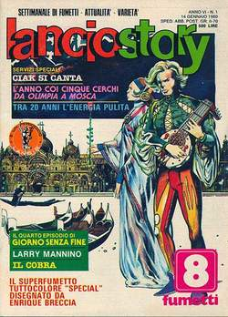 Copertina LANCIOSTORY ANNO 06 n.1 - LANCIOSTORY 1980    1, EDITORIALE AUREA