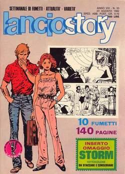 Copertina LANCIOSTORY ANNO 08 n.33 - LANCIOSTORY 1982   33, EDITORIALE AUREA