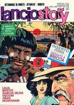 Copertina LANCIOSTORY ANNO 12 n.24 - LANCIOSTORY 1986   24, EDITORIALE AUREA