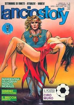 Copertina LANCIOSTORY ANNO 12 n.35 - LANCIOSTORY 1986   35, EDITORIALE AUREA