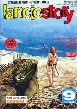 Copertina LANCIOSTORY ANNO 13 n.34 - LANCIOSTORY 1987   34, EDITORIALE AUREA