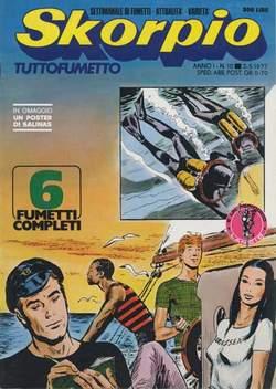 Copertina SKORPIO ANNO  1 n.10 - SKORPIO 1977            10, EDITORIALE AUREA