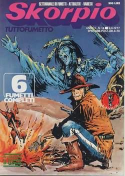 Copertina SKORPIO ANNO  1 n.14 - SKORPIO 1977            14, EDITORIALE AUREA
