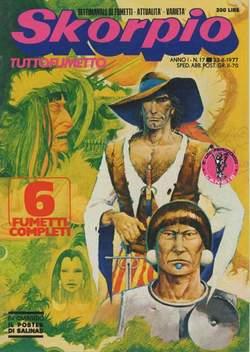 Copertina SKORPIO ANNO  1 n.17 - SKORPIO 1977            17, EDITORIALE AUREA