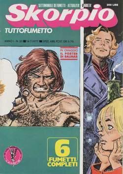 Copertina SKORPIO ANNO  1 n.20 - SKORPIO 1977            20, EDITORIALE AUREA