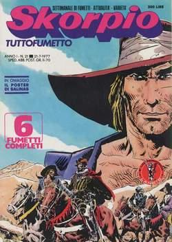 Copertina SKORPIO ANNO  1 n.21 - SKORPIO 1977            21, EDITORIALE AUREA