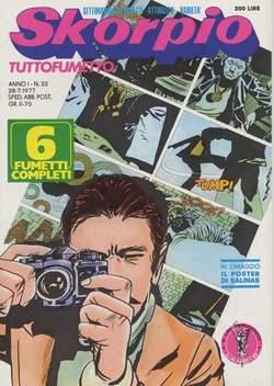 Copertina SKORPIO ANNO  1 n.22 - SKORPIO 1977            22, EDITORIALE AUREA