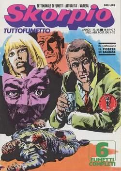 Copertina SKORPIO ANNO  1 n.25 - SKORPIO 1977            25, EDITORIALE AUREA