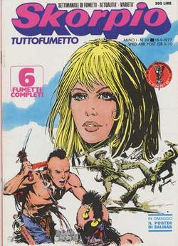 Copertina SKORPIO ANNO  1 n.29 - SKORPIO 1977            29, EDITORIALE AUREA