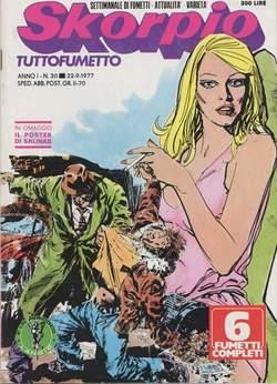 Copertina SKORPIO ANNO  1 n.30 - SKORPIO 1977            30, EDITORIALE AUREA