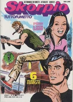 Copertina SKORPIO ANNO  1 n.32 - SKORPIO 1977            32, EDITORIALE AUREA