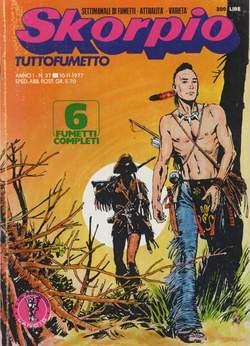 Copertina SKORPIO ANNO  1 n.37 - SKORPIO 1977            37, EDITORIALE AUREA