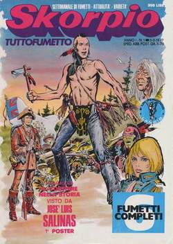 Copertina SKORPIO ANNO  1 n.1 - SKORPIO 1977             1, EDITORIALE AUREA