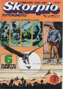 Copertina SKORPIO ANNO  1 n.9 - SKORPIO 1977             9, EDITORIALE AUREA