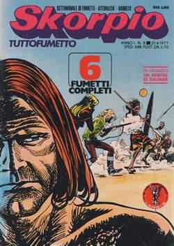 Copertina SKORPIO ANNO  1 n.8 - SKORPIO 1977             8, EDITORIALE AUREA