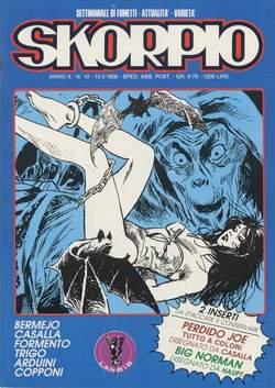 Copertina SKORPIO ANNO 10 n.10 - SKORPIO 1986            10, EDITORIALE AUREA