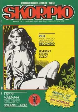 Copertina SKORPIO ANNO 10 n.11 - SKORPIO 1986            11, EDITORIALE AUREA
