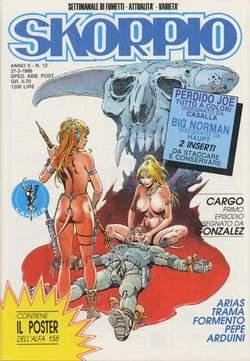 Copertina SKORPIO ANNO 10 n.12 - SKORPIO 1986            12, EDITORIALE AUREA