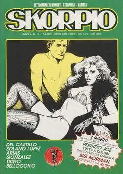Copertina SKORPIO ANNO 10 n.15 - SKORPIO 1986            15, EDITORIALE AUREA