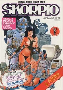 Copertina SKORPIO ANNO 10 n.16 - SKORPIO 1986            16, EDITORIALE AUREA