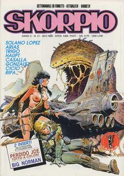 Copertina SKORPIO ANNO 10 n.21 - SKORPIO 1986            21, EDITORIALE AUREA